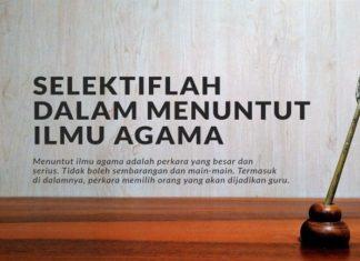 Selektif Menuntut Ilmu Agama. (foto: ist/palontaraq)