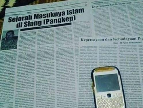 Contoh artikel, karya tulis ilmiah yang terpublikasi di Surat Kabar. (foto: ist/palontaraq)