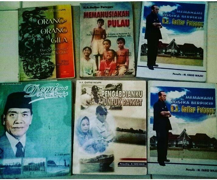 Buku Biografi HA Gaffar Patappe yang pernah ditulis Etta Adil, Tahun 2004. (foto: ist/palontaraq)