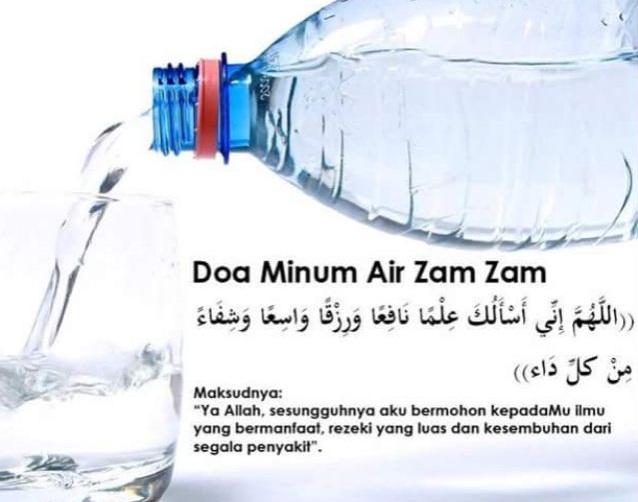 Doa Meminum Air Zamzam. (foto: ist/palontaraq)